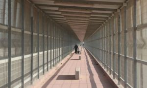 The Erez crossing from Gaza to Israel.
