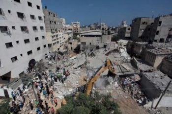 In more than three weeks of incessant bombing, Israel has killed more than 1,800 Palestinians, in large part civilians | AP